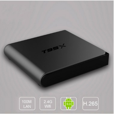 Sunvell T95X  - тв приставка на процессоре S905X, Android 6.0 с поддержкой WI-FI сигнала и формата 4К,  IPTV плеер