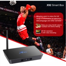 X92 - смарт приставка на Android 6.0 Smart TV Box Amlogic S912 Octa core KD16.1 установлен 5 г Wi-Fi поддержка 4К H.265 телеприставка