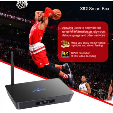 X92 ТВ приставка на Android 7.0 Smart TV Box Amlogic S912 Octa core KD16.1 установлен 5 г Wi-Fi поддержка 4К H.265