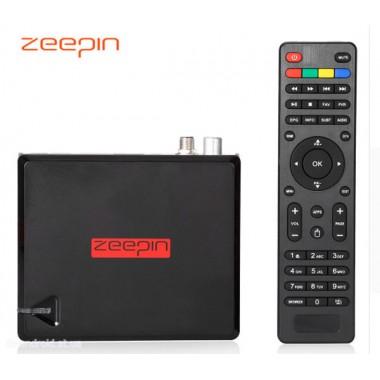 Zeepin - смарт приставка с S2 и T2 тюнером на Android 5.1 памятью 2 ГБ/16 ГБ, WI-FI 2.4 Г/5 ГГц, Bluetooch 4.0 гигабитным LAN портом