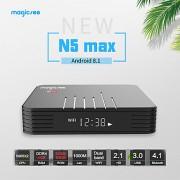 MAGICSEE N5 MAX - тв приставка на android 8.1 с памятью 4\32 Гб, Bluetooth 4,1, двухдиапазонный WiFi