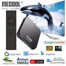 MECOOL KM9 PRO - TV BOX на Android 9.0 с памятью 4/32 ГБ и пультом с голосовым управлением