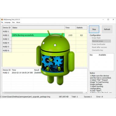 Услуга по прошивке  Smart TV приставок на Android