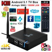Vontar KIII - тв приставка на Android 5.1 памятью 2 ГБ/16 ГБ процессоре S905 поддержка 4К двухдиапазонный  WIFI 2.4 Г/5 ГГц  TV Boх