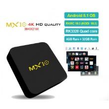 MX10 тв приставка на Android 8.1, с памятью 4/32ГБ