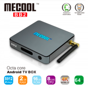 Mecool BB2 - Android TV Box Amlogic S912 64 бит Octa Ядро 4 К,  память 3/16 Гб,  2.4 Г/5 Г Wi-Fi Bluetooth 4.0
