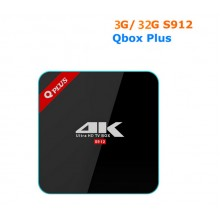Q Plus -  смарт приставка на процессоре Amlogic S912 и Android 7, память 3 Г/32 Г 2.4 Г/5 ГГц двойной WIFI